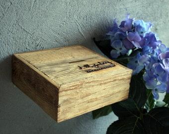 5.5x5.5 in(14x14cm),Original Imgalery,Small Shelves,Reclaimed Rustic Wood Shelves,Original Handmade,Recycled Wood,Weathered Wood Shelf, 0901
