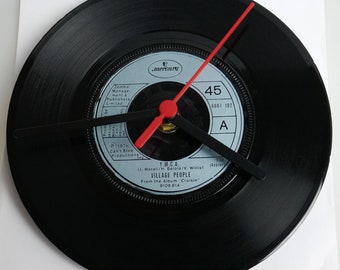 "Village People - 'YMCA' 7"" Record Clock"