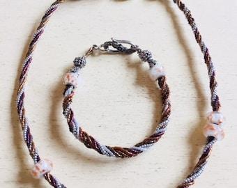 Jack'Line twist Necklace/Bracelet set