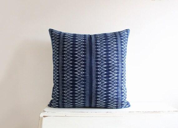 """Hmong indigo batik pillow / cushion cover 20"""" x 20"""""""