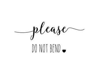 "Please Do Not Bend Stamp, envelope stamp, packaging stamp, label stamp, stationery stamp, post stamp, please do not bend, 1.8""x0.8"" (txt5)"