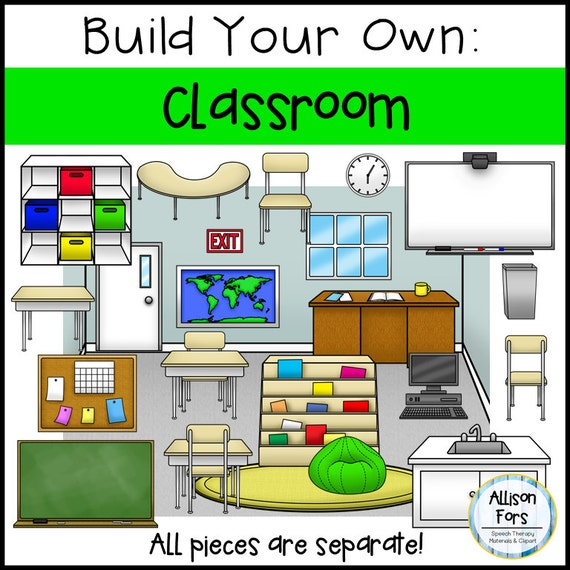Classroom Design Page ~ Build your own classroom clip art