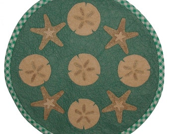 PDF Pattern - Stars of the Sea 16 inch WoolFelt Table Mat