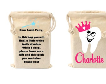 tooth fairy bags,Personalized Tooth Fairy Bag, Tooth Fairy Keepsake, Tooth Fairy Pouch, Tooth Fairy Sack, Gift For Kids, Tooth Container