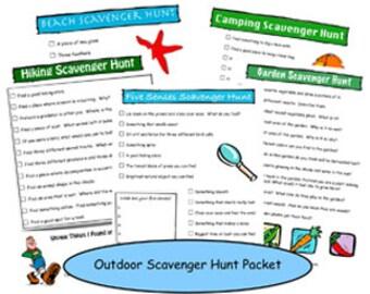 Outdoor Scavenger Hunt Printable Packet