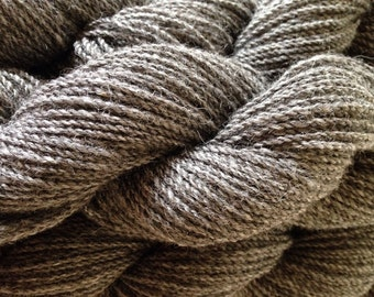 Silver Gray Alpaca/Wool Sport Weight Yarn