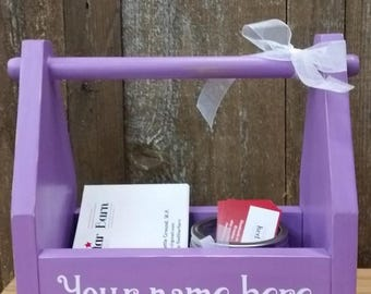Business card display, flyer carrier, sales consultants, box, handmade wood box, FREE personalization