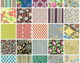 Amy Butler fabric | Fat Quarter or Half Yard set | Love Lotus Gypsy Caravan Ginger Bliss Daisy Chain