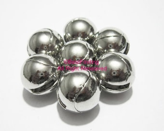 3pcs Ball sharp Magnetic clasp 8x2mm hole Strong magnet Open leather clasp