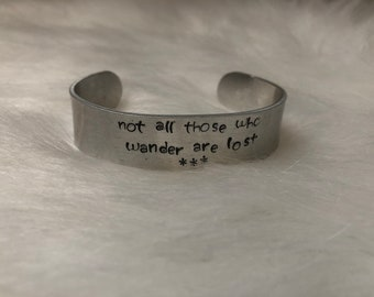 Custom Personalized Handstamped Bracelet One Size Fits All Most Quote Mantra Sorority Perfect Gift Affordable