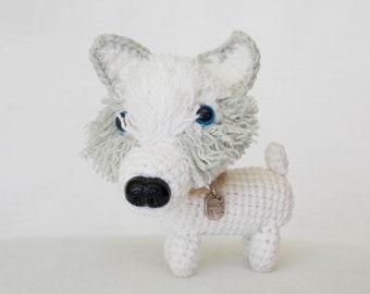 amigurumi husky dog / cute stuffed dog  /  husky dog hand made  / crocheted dog / stuffed animals / amigurumi puppy / dog lovers gift /