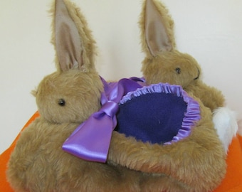 Brown Rabbit Slipper Made to Measure Him or Her Gift All Occasion Gift Made to Order Gift for Girl Friend  Mums Day Present Fun Gift for Dad