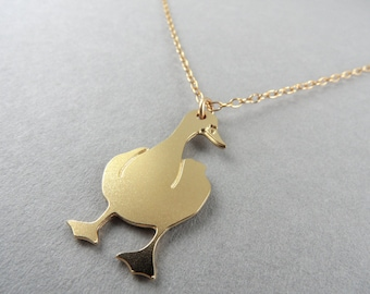 goose necklace bird necklace goose goose pendant goose jewelry canada goose necklace bird pendant geese gift for her bird charm