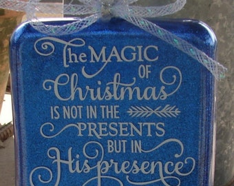 The magic of Christmas ornament