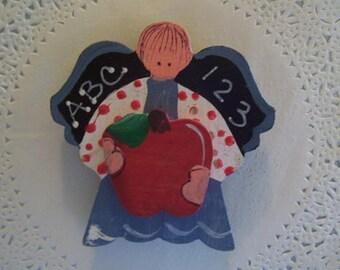 Teacher Magnet (789) - Teacher Refrigerator Magnet - Teacher Angel - Teacher gift - teacher jewelry - repurposed jewelry - school magnet