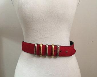 Red Retro belt
