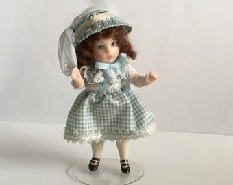 "Wonderful 3"" Bisque doll artist made"
