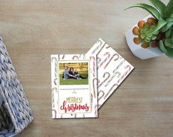 Custom, Printable Christmas Candy Cane Card