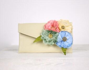 Pastel Colors Bridesmaid Clutch| Pastel Bridesmaid purse