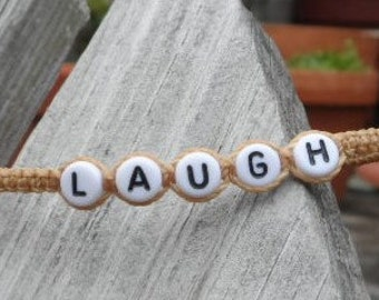 LAUGH Knotted Cord Bracelet