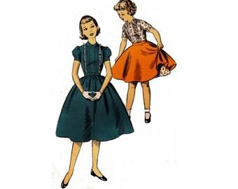 la fille des années 1940 avance 6870 et Tween robe et jupe || Buste en 26 66cm || Le patron de couture vintage non-coupe