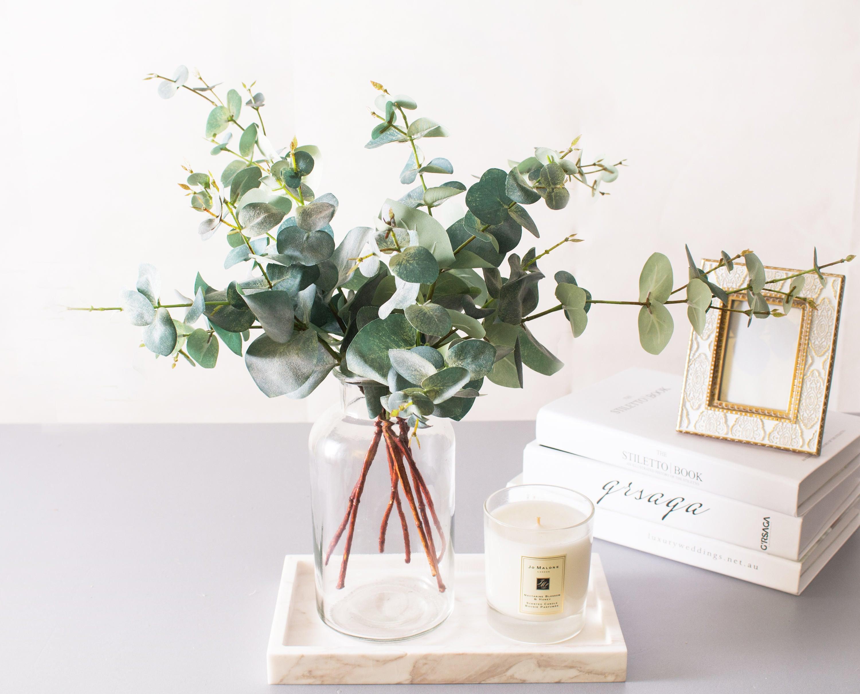1pc - 4pcs Eucalyptus Leaf Leaves Silk Flower for DIY Wedding Bridal ...