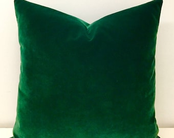 Luxury Dark Green Velvet Throw Pillows, Velvet Pillow Cover, Green Pillow, Decorative Pillows, Velvet Cushion, Dark Green Velvet Pillows