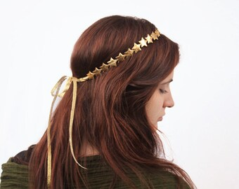 Gold Star Headband. Gold Star Crown, Gold Headband, Gold Crown, Birthday Crown, Star Headband, Gold, Star Crown. Silver Star Headband, Boho