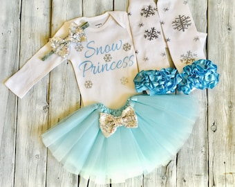 snow princess outfit, snowflake outfit, birthday outfit, frozen birthday outfit, elsa birthday, snowflake legwarmers, first birthday outfit