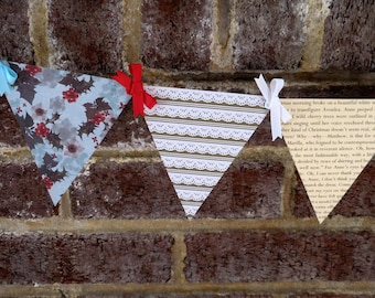 Anne of Green Gables Christmas Paper Pennant Banner for Holiday Parties and Decoration