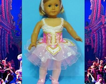 Costume de ballet - la fée Dragée casse-noisette convient American Girl poupées