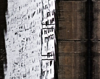 Abstract wall art in rustic style - Brown white black home decor Surreal winter 5x7 fine art photography print