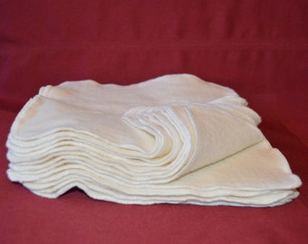 """SALE!!! Set of 24- 8"""" x 8"""" Organic Soft Bamboo Cotton Fleece Wipes- Baby Wipe, Wash Cloth, Facial Wipes"""