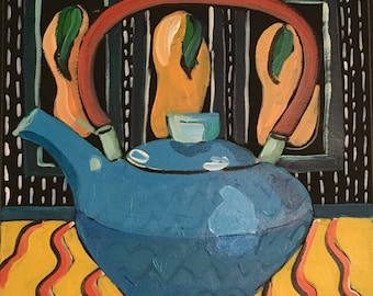 Tea Pot with Pears