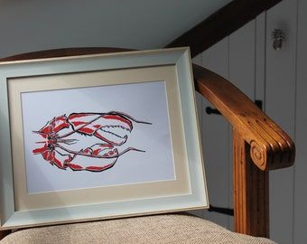 Ink & Paint Liner LOBSTER Print A4 By VMS (From Original Artwork)