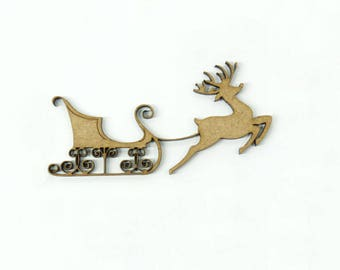 Beautiful Santa sleigh and his reindeer