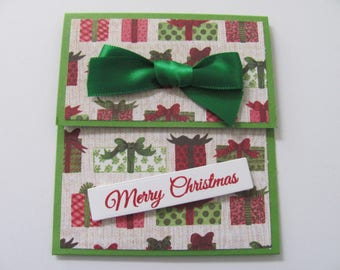 Christmas Presents Gift Card Holder, Gift Card Envelope, Money Holder, Christmas Gift Card Holder, Holiday Gift Card, Christmas Card, Wreath