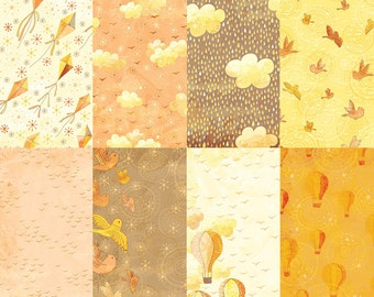Honey Sky Digital Paper Kit