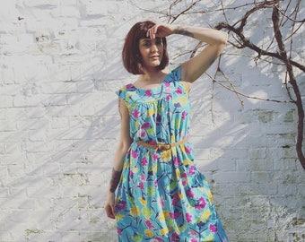 60s Floral Summer Dress