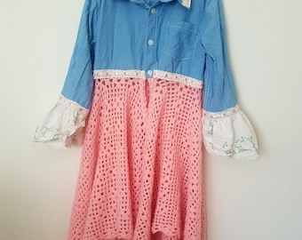 upcycled, OOAK, girls jacket size 7