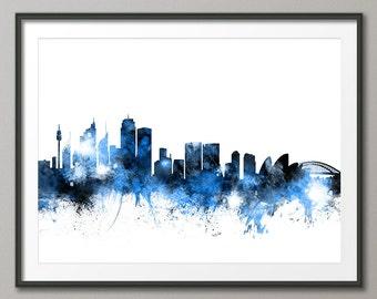 Sydney Skyline, Sydney Australia Cityscape Art Print (1112)
