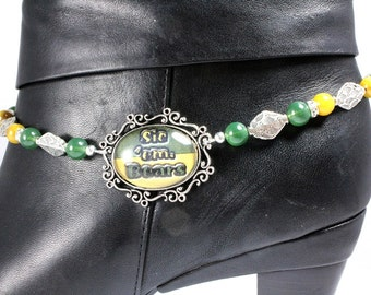 Baylor Boot Bracelet - Baylor Bears - Gameday Jewelry - Cowgirl Boot Bling
