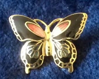 Vintage Brooch, Butterfly Brooch, Enamel Brooch, Vintage Jewelry, Jewellery, Gift for Her, Vintage Pin, Butterflies