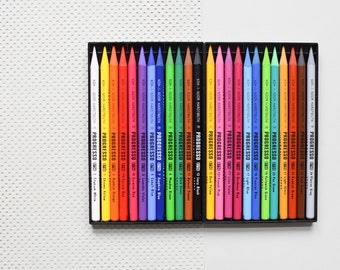 24 woodless colored pencils, Progresso woodless pencils, multi-color Koh-i-noor