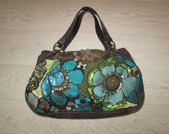 Beaded and embellished sequin handbag