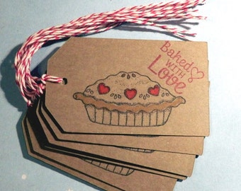 Baked with Love- Homemade PIE gift/hang tags (8)
