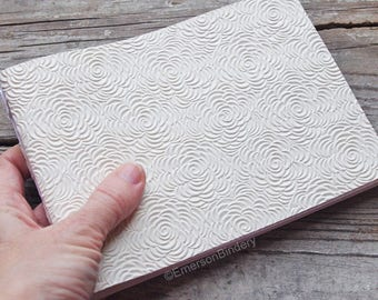 Wedding Guest Book, Off White Floral Paperback Journal