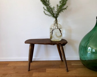 Vintage 50s 60s Wooden stool