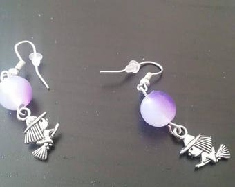 Earring lucky 3 witches