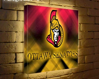 Ottawa Senators Light Up Logo,led Logo Light Box, Night Light, Nba Logo, Lighted  Wall Art, Lamp, Gift Light Box Custom Night Light
